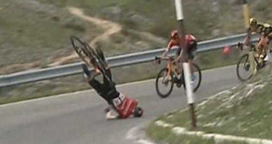 Matej Mohoric stürzte beim Giro schwer