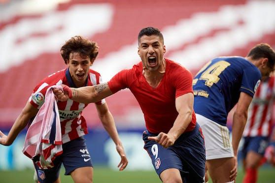 Luis Suarez schoss 21 Tore für Atletico am Weg zum Meistertitel in Spanien.