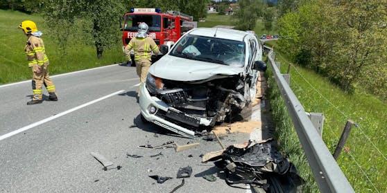 Schwerer Verkehrsunfall auf der Achenseebundesstraße-Fotocredit
