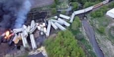 Chemiezug entgleist und explodiert – Anwohner evakuiert