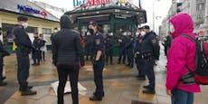 Polizei dreht Kundgebung am Naschmarkt sofort ab