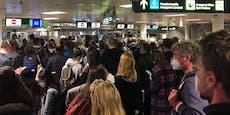 Ärger über Menschenmassen am Wiener Flughafen