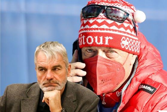 Fritz Niederndorfer (l.) und Peter Schröcksnadel sind nicht einer Meinung.