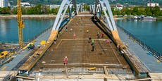 Eisenbahnbrücke wird jetzt zubetoniert