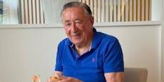 Richard Lugner will sich in Badehose einfrieren lassen