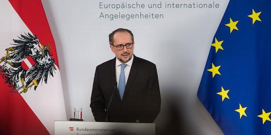 Am 18.05.2021 gab Außenminister Alexander Schallenberg einen Presspoint anlässlich des Sonderrats der Außenminister.