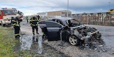 Auto ging während Testfahrt in Flammen auf