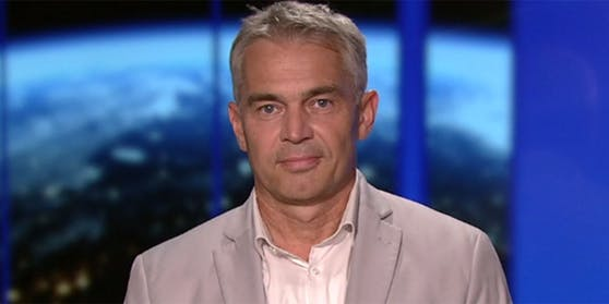 """Epidemiologe Gerald Gartlehner in der ORF-""""ZiB 2""""."""