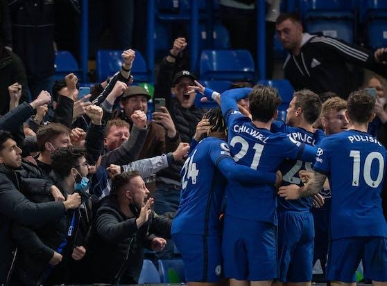 Chelsea jubelt über den Sieg gegen Leicester