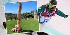 Nacktfoto mit Baby: Olympia-Siegerin sorgt für Aufsehen