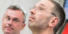 Kickl stichelt gegen FPÖ-Parteichef Hofer