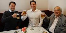 FPÖ-Chef Nepp gönnte sich schon am Vormittag ein Bier