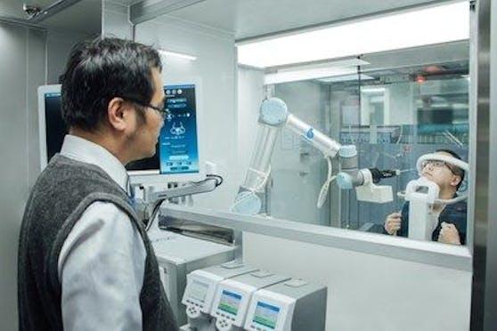 Eine Innovation aus Taiwan: Die Zero-Contact Medical Station.