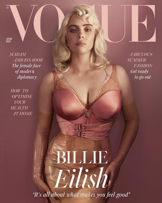 """Billie Eilish wird erwachsen - und das zeigt sie auf der Juni-Ausgabe der britischen """"Vogue""""."""