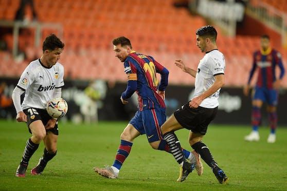 Lionel Messi war gegen Valencia in Torlaune.
