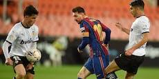 3:2 in Valencia: Messi-Gala hält Barca im Titelrennen