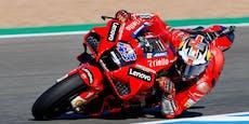 MotoGP-Rennen in Jerez endet mit Überraschung