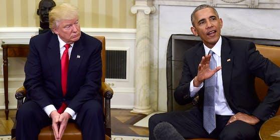 Barack Obama beim Treffen mit Donald Trump unmittelbar nach dessen Wahl