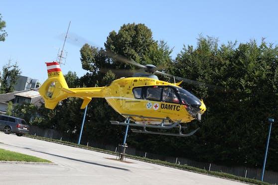 Das Mädchen musste ins Spital geflogen werden.