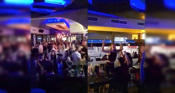 Party-Stimmung auf der Balkan-Partymeile in Ottakring