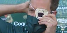 Verletzt? Vettel gibt Interview mit Augenklappe