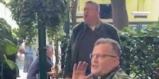 Küssel bei Störaktion gegen Kurz im Schweizerhaus dabei
