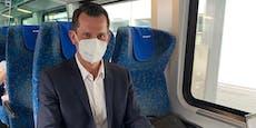 Wenig Zeit in Graz – Minister musste mit Zug nach Wien