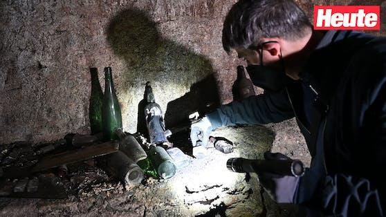 In den Kellern der Wiener Innenstadt findet man nicht nur Weinflaschen und Tintenfässer.