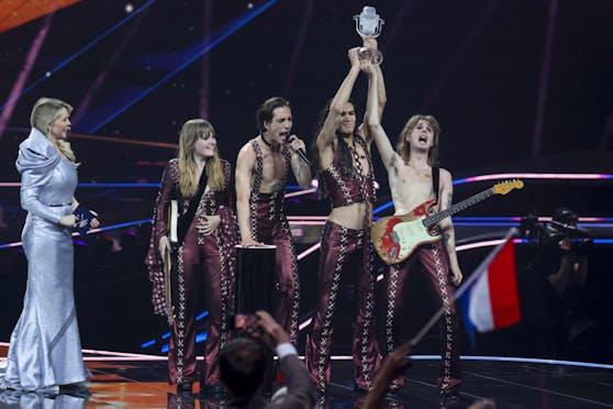 Die Rocker von Mansekin holten den Sieg.