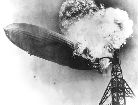 Die Hindenburg-Katastrophe wurde von mehreren Zeugen gefilmt.