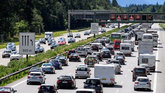 Stau auf der Brenner Autobahn