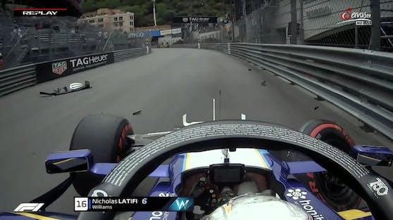 Nicholas Latifi schrottet seinen Williams.