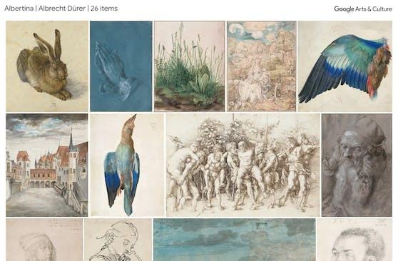 Online-Ausstellung mit 21 Werken der Albertina auf Google Arts & Culture.