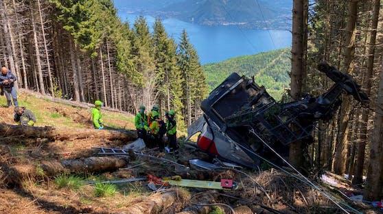 Im Piemont ist eine Seilbahnkabine abgestürzt, zwölf Menschen kamen dabei ums Leben.