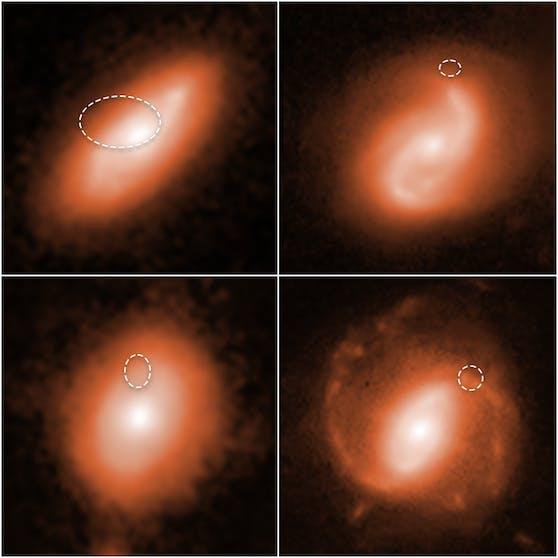 Mit dem Hubble Weltraumteleskop gelang es, vier Fast Radio Bursts bestimmten Regionen in weit entfernten Galaxien zuzuordnen.