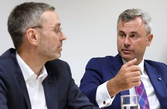 FPÖ-Klubobmann Herbert Kickl und der FPÖ-Bundesparteiobmann Norbert Hofer.