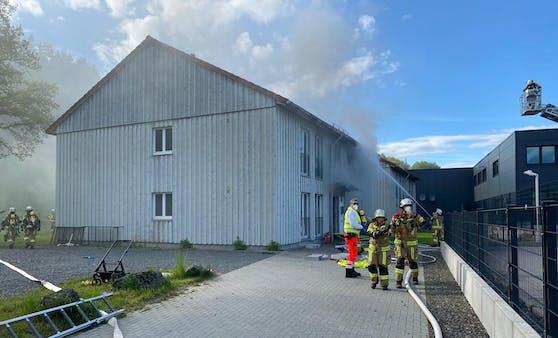 Zwei Tote bei Brand in Asylunterkunft im bayrischen Kronach am 23. Mai 2021