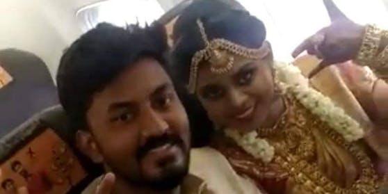 Rakesh und Dakshina aus Manurai (Indien) haben sich für ihren Hochzeitstag etwas Besonderes einfallen lassen.