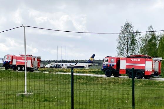 Die zur Notlandung gezwungene Ryanair-Maschine mit einem Österreicher an Bord  ist am Sonntagabend in Litauen gelandet.