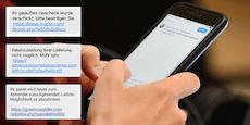 Immer mehr fallen Fake-SMS zum Opfer: 10.000 Betroffene