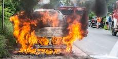 Nächster Fahrzeugbrand – Lenker konnte noch flüchten