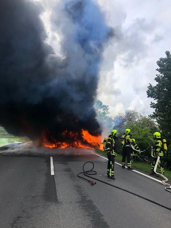 Wohnmobil geriet in Brand