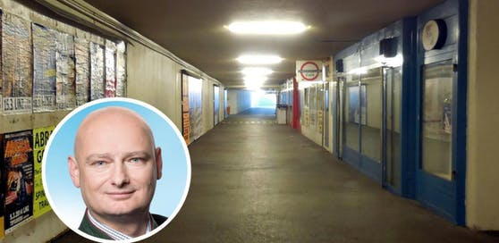 """""""Heute"""" und Vize-Bürgermeister Markus Hein suchen Plätze, an denen Menschen Angst haben, wie etwa in der Hinsenkampunterführung."""