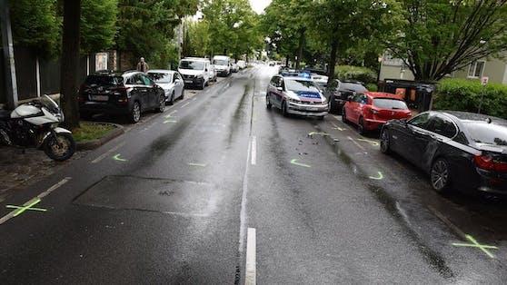 Der Unfall ereignete sich auf der Breitenfurter Straße.