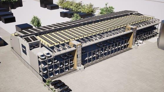 Dieses Parkhaus soll das Amazon-Verteilzentrum in Wien-Simmering erweitern