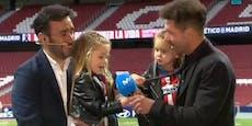 Simeone-Tochter verzaubert Fans mit Atletico-Hymne