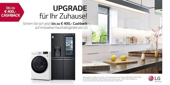 Upgrade für das Zuhause mit der LG Cashback-Aktion.
