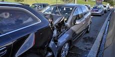 Schwerer Unfall auf A13 – drei Kinder verletzt