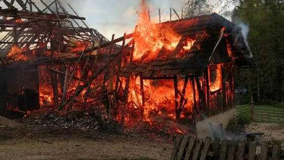 Bei dem Brand kamen weder Menschen noch Tiere zu Schaden.