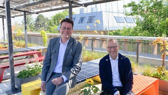 Klimastadtrat Jürgen Czernohorszky und Bernd Vogl, Leiter der Wiener Energieplanung